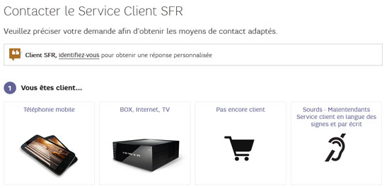 contacter le service client sfr hotline se connecter. Black Bedroom Furniture Sets. Home Design Ideas