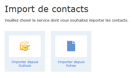GMX: Import de contacts