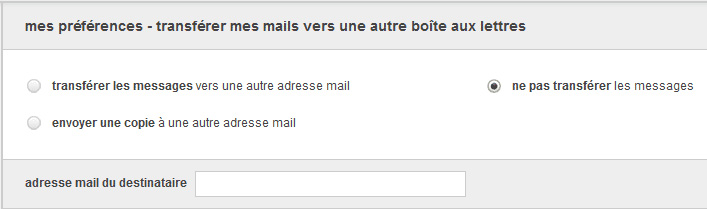 Rediriger les messages Orange