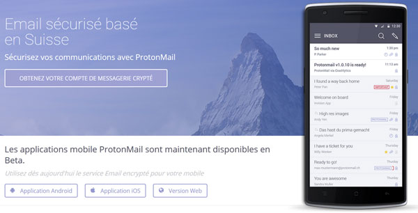 ProtonMail en version finale