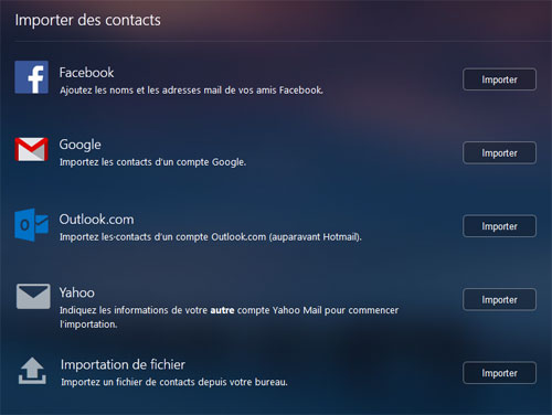Yahoo Mail Importer des contacts