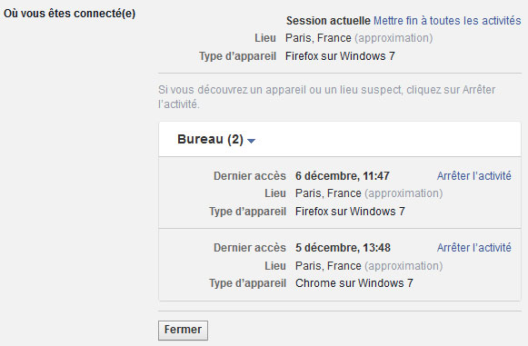 Comment fermer à distance vos sessions Facebook actives