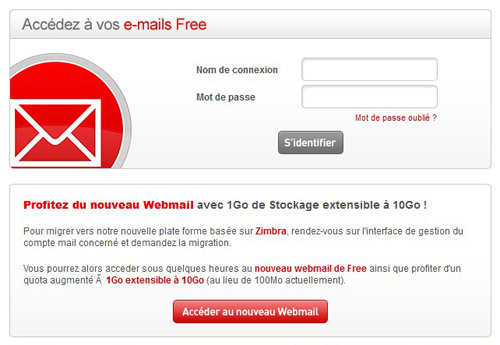 Free.fr mail