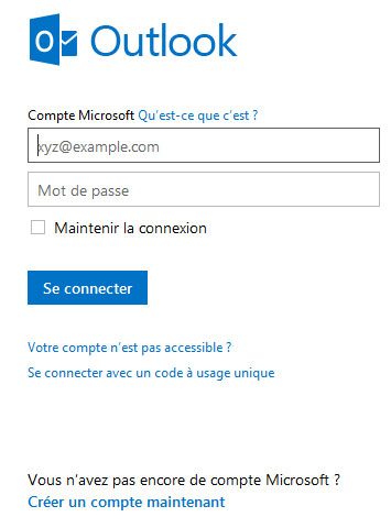 Hotmail sign in | Se connecter