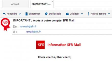SFR Mail : Email authentique