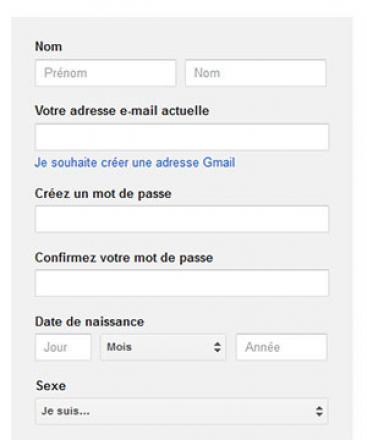 Créer un compte Google sans avoir une adresse Gmail