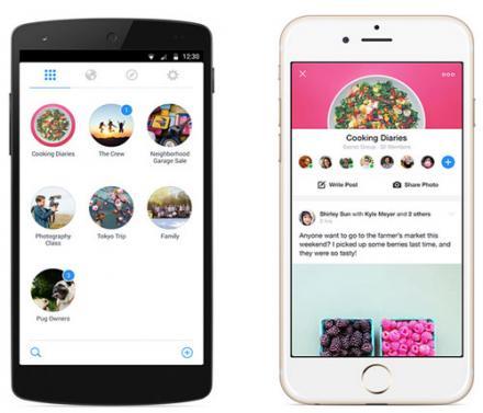 Présentation de l'application mobile Facebook Groups