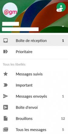 La nouvelle version de l'application Gmail