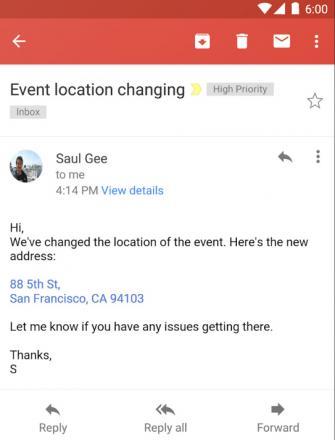 Gmail : numéros de téléphone et adresses cliquables