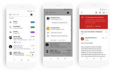 L'application mobile Gmail au Material Design ( Android et iOS )