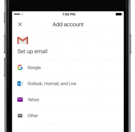 Gmail, la boîte aux lettres qui intègre d'autres boîtes aux lettres sous le système iOS