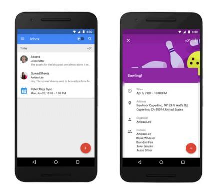 Google Inbox - La gestion des évènements
