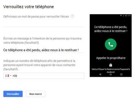 Google - Verrouillez votre téléphone