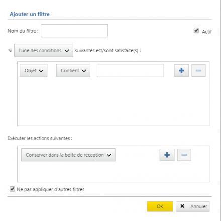 Astuce pour créer un filtre automatique sur les courriers électroniques