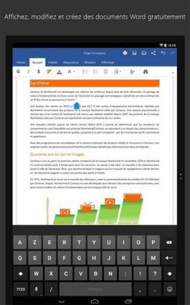 La suite bureautique Microsoft disponible sur Android