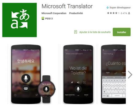 Microsoft Translator offre une alternative à Google Translate