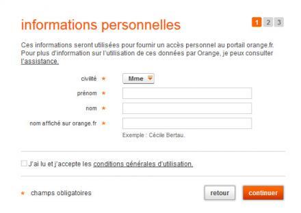 Les étapes pour créer une boîte mail secondaire Orange