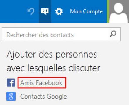 Relier votre compte Facebook à votre espace Outlook.com