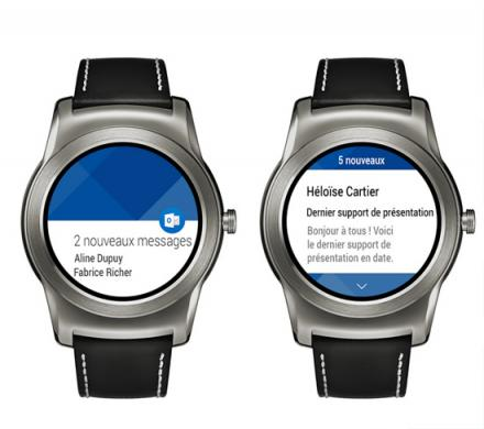 L'accessibilité de Microsoft Outlook sur Android Wear
