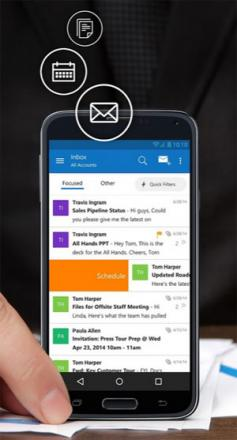 Microsoft met à jour ses applis Outlook pour iOS et Android