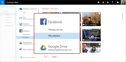 Facebook et Google Drive s'invitent au sein d'Outlook.com