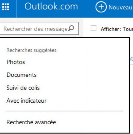 Outlook.com (Hotmail) recherche