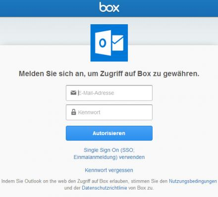 Outlook.com - Ajouter Box