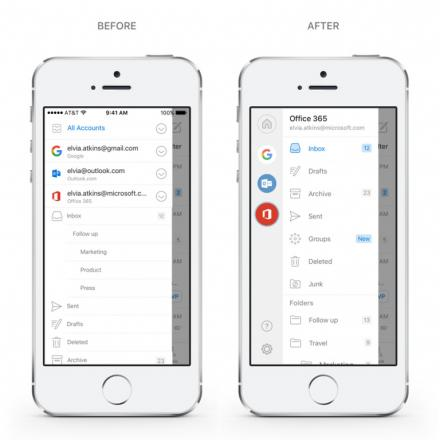 Une innovation de l'application Outlook ( sur iOS et Android )