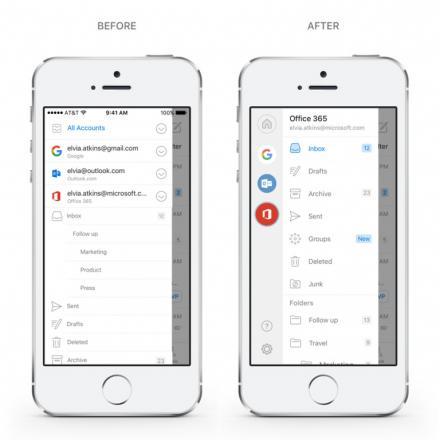 Une innovation de l'application Outlook ( sur iOS et Android )