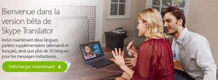 Skype traduction automatique