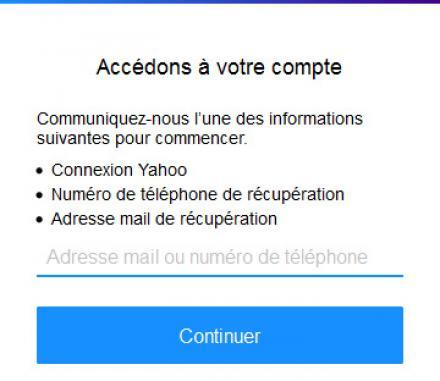 Réactiver un compte Yahoo supprimé