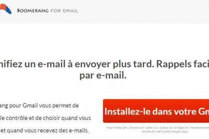 Le « Boomerang for Gmail », qu'est-ce que c'est ?