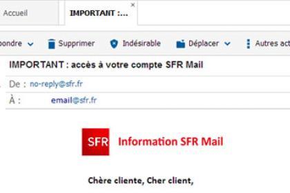 SFR Mail : Email authentique