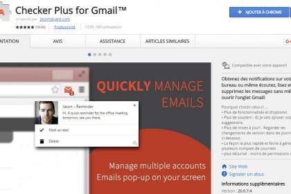 Checker Plus for Gmail, pour plus de simplicité