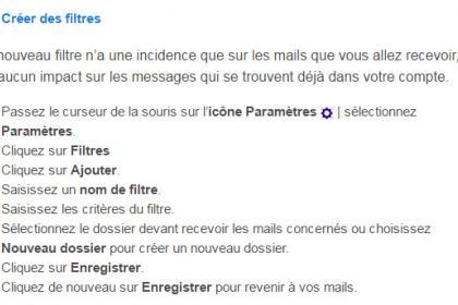 Utilisation des filtres dans Yahoo Mail