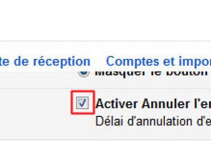 Annuler l'envoi d'un message avec Gmail