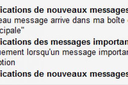 Gmail : Activer ou désactiver les notifications