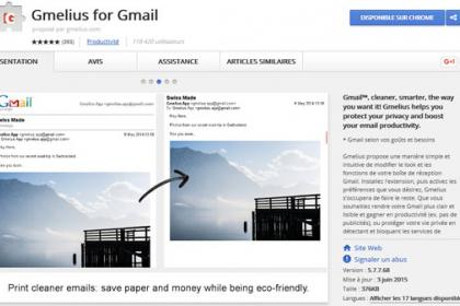 Gmelius une extension compte Gmail