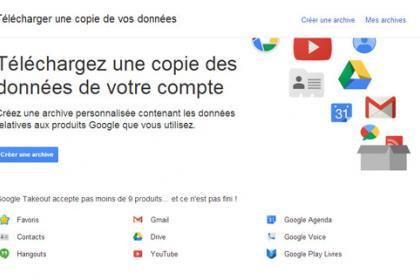 Google Takeout, une nouveau service d'archivage en ligne