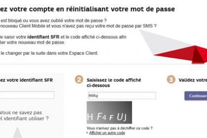 Changer le mot de passe de sa boîte mail SFR