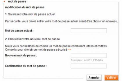 Modifier le mot de passe de votre webmail Orange