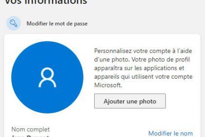 Outlook : Mettez à jour votre photo de profil