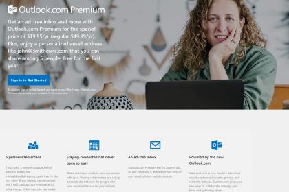 Outlook.com, le service premium pour les États-Unis