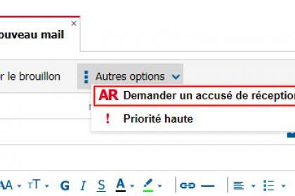 Recevoir un accusé de réception avec SFR Mail