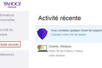 Comment rechercher, puis supprimer une activité suspecte sur votre compte Yahoo?
