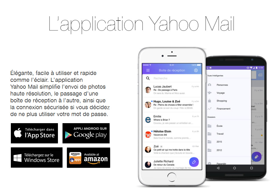 yahoo mail boite de reception